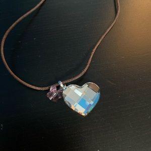 Swarovski Heart & Butterfly Necklace